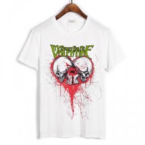 Merchandise T-Shirt Bullet For My Valentine Skulls Logo White