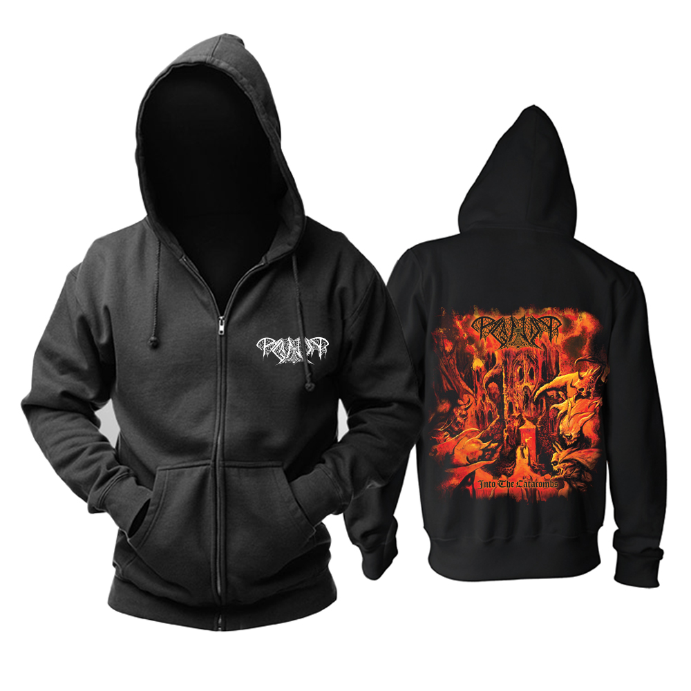 Merch Hoodie Paganizer Into The Catacombs Pullover