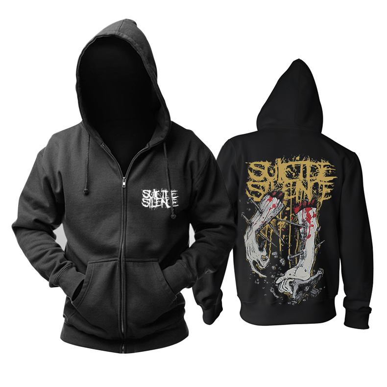 Merchandise Hoodie Suicide Silence Deathcore Store Pullover