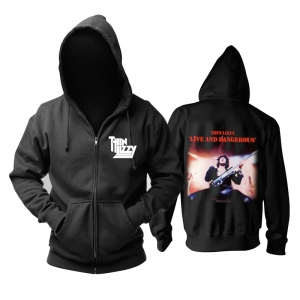 Collectibles Hoodie Thin Lizzy Live And Dangerous Pullover