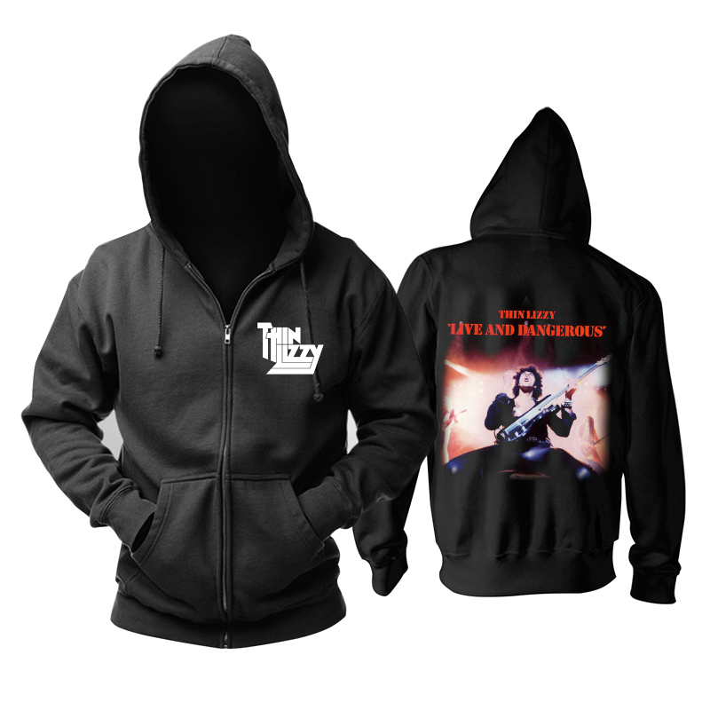 Merch Hoodie Thin Lizzy Live And Dangerous Pullover