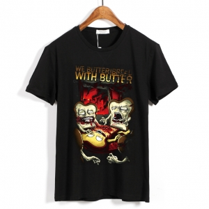 Merch T-Shirt We Butter The Bread With Butter Foreign