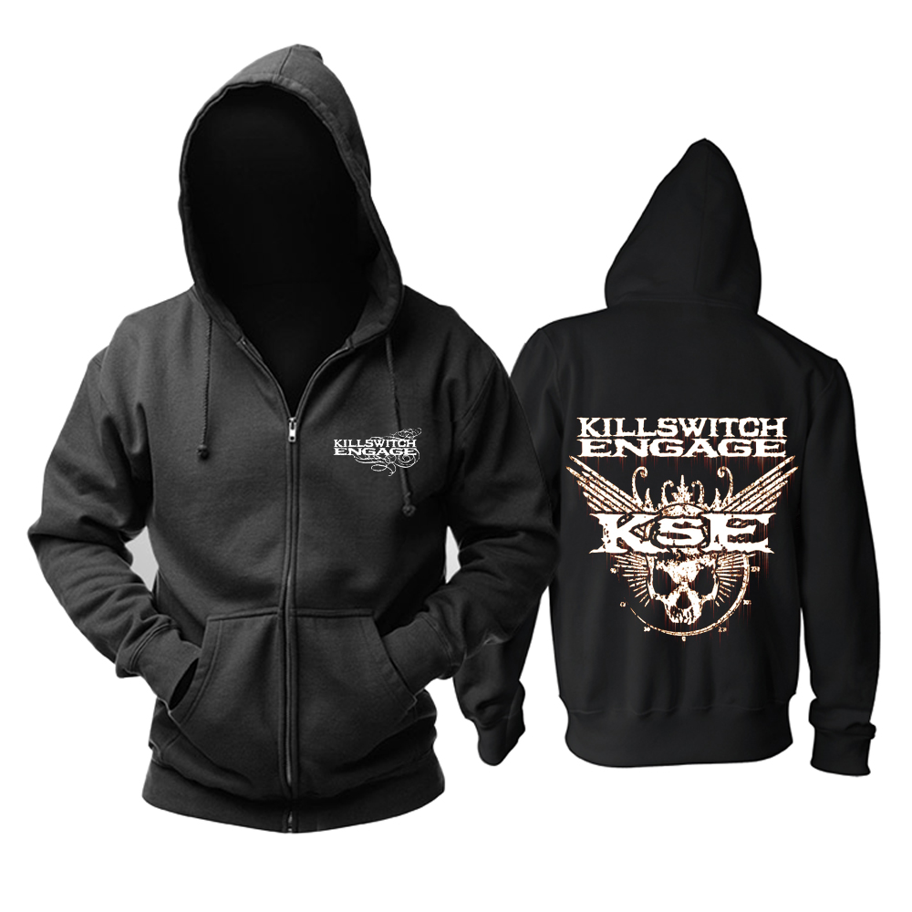 Merch Hoodie Killswitch Engage Logo Black Pullover