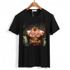 Merch T-Shirt Obituary Inked In Blood