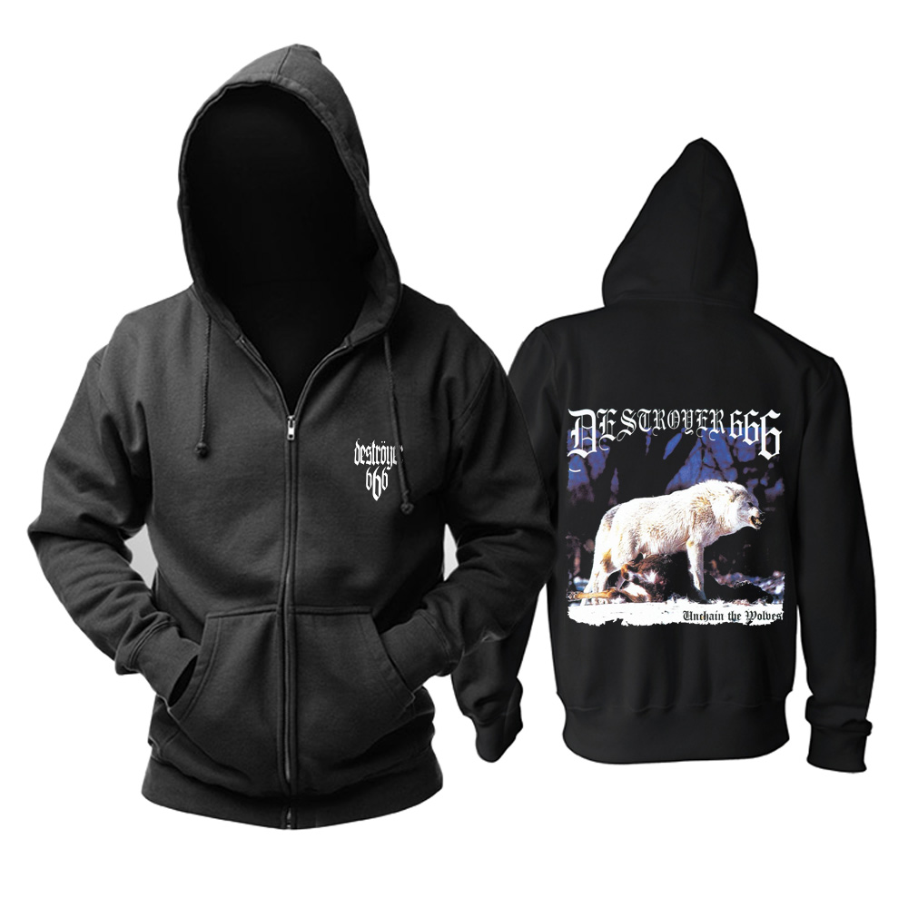 Merchandise Hoodie Destroyer 666 Unchain The Wolves Pullover