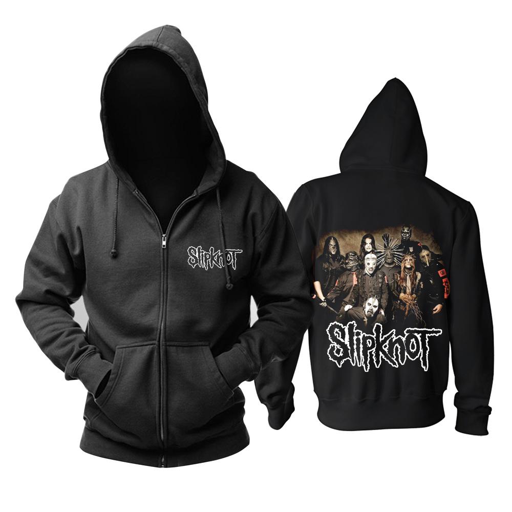 Merchandise Black Hoodie Slipknot Nu Metal Band Pullover
