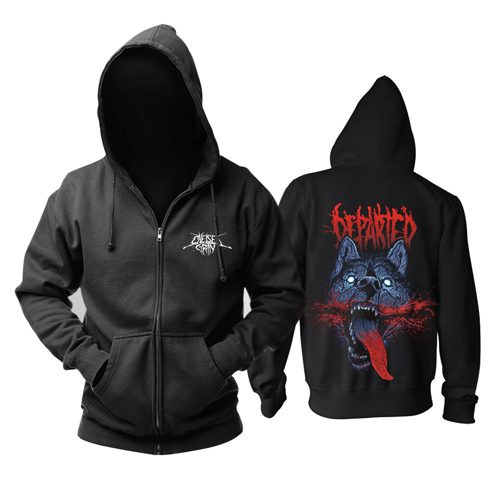 Collectibles Hoodie Chelsea Grin Wolf Head Pullover
