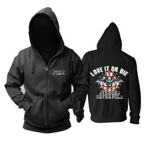Merchandise Avenged Sevenfold Hoodie Love It Or Die Pullover