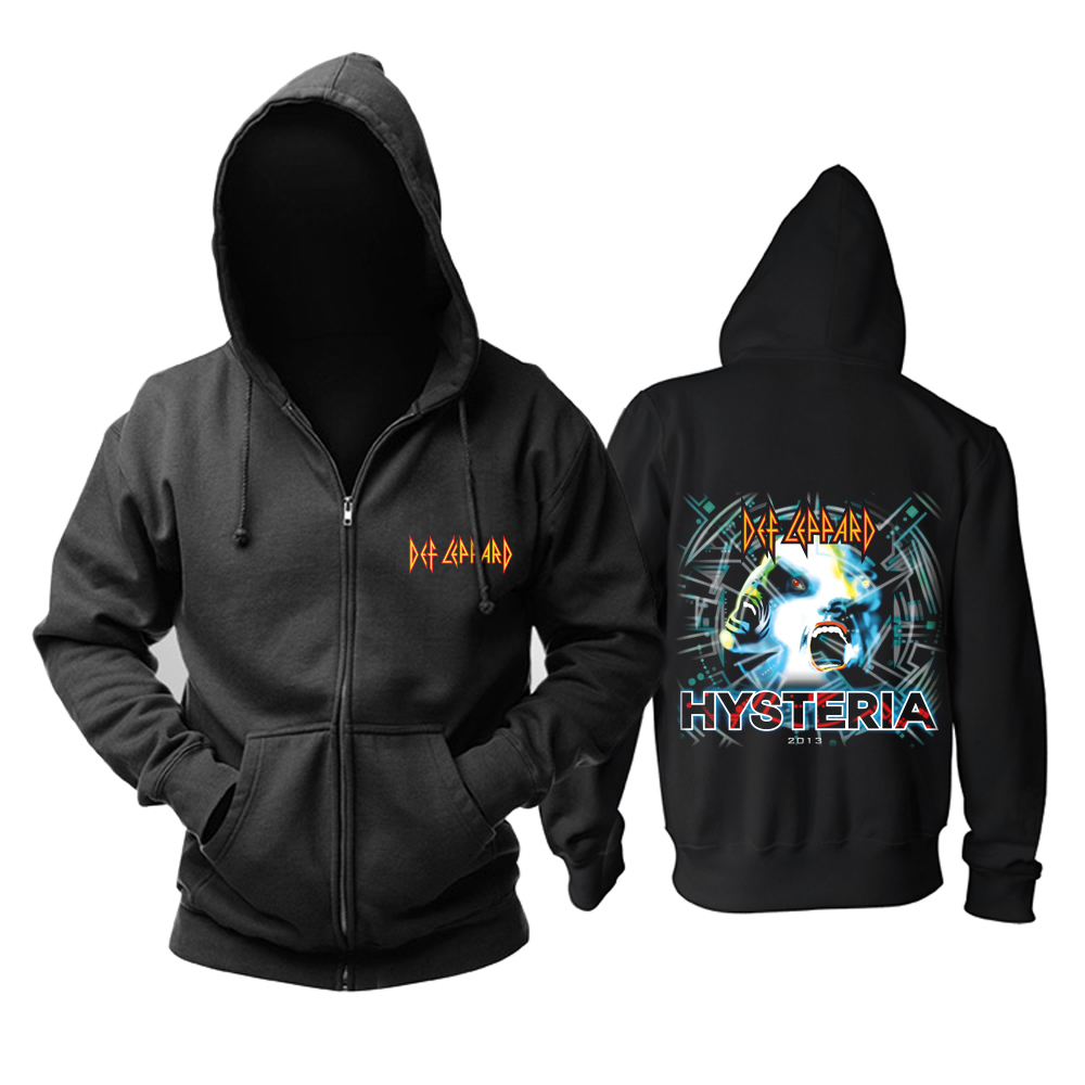 Merch Hoodie Def Leppard Hysteria Black Pullover