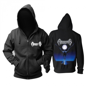 Merchandise Hoodie Amorphis Black Winter Day Pullover