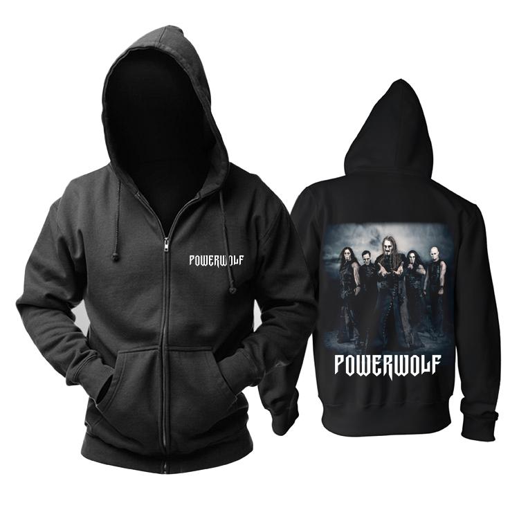 Merchandise Black Hoodie Powerwolf Heavy Metal Band Pullover