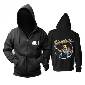 Merch Hoodie Jimi Hendrix Guitar Black Pullover