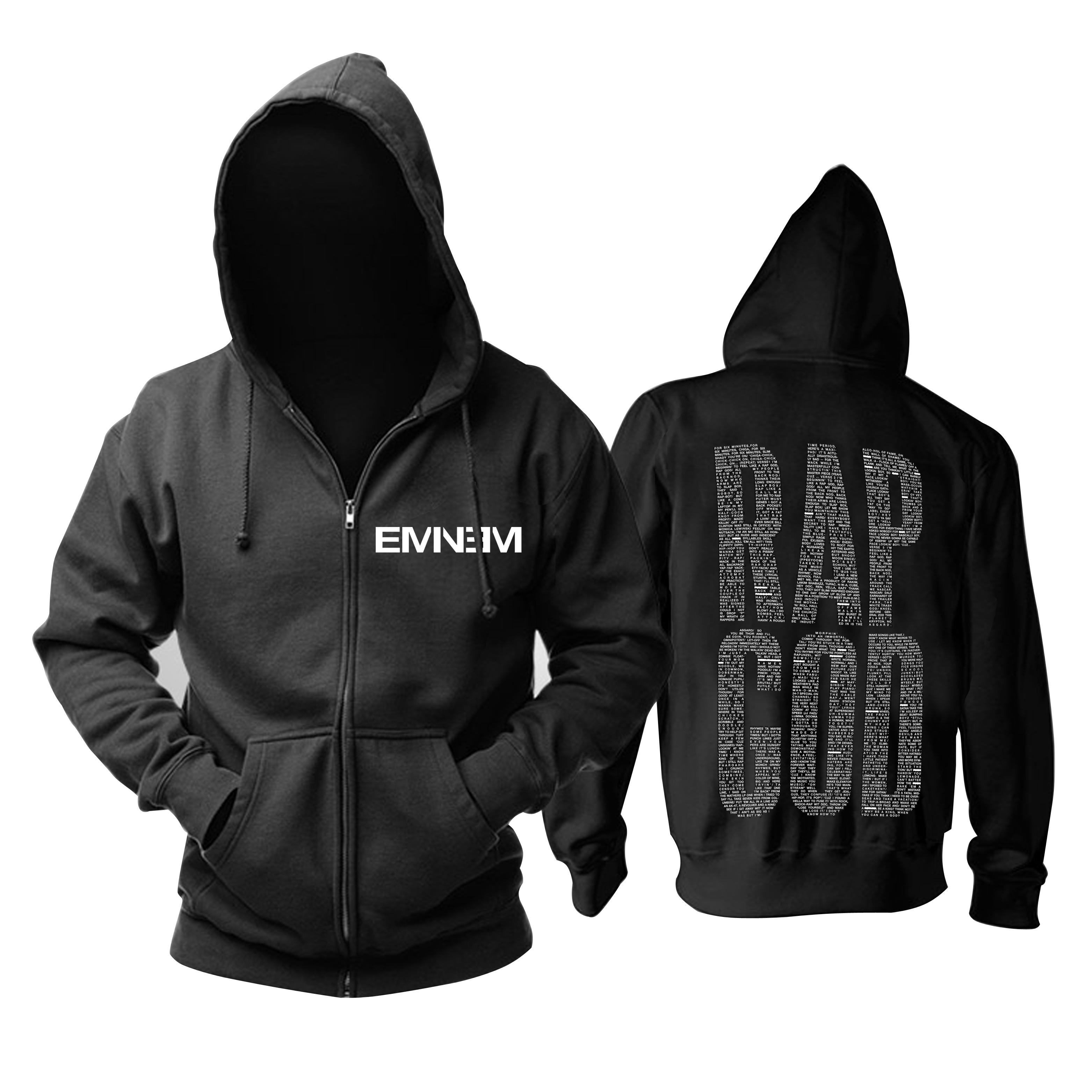 Collectibles Hoodie Eminem Rap God Black Pullover