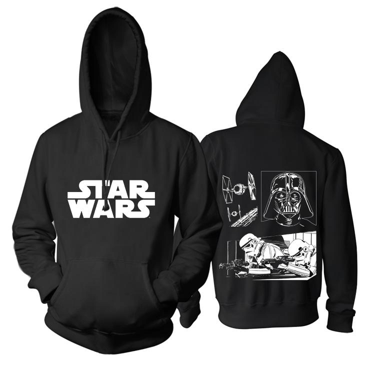 Merch Hoodie Star Wars Dark Force Black Pullover