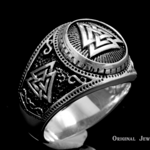 Buy Silver Valknut Viking Ring Valknut Viking Signet Sterling Silver 925