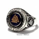 Buy Valknut Viking Singet Ring Lapis Lazuli Valknut Viking Silver 925