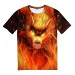Merchandise T-Shirt Fire Wolf League Of Legends