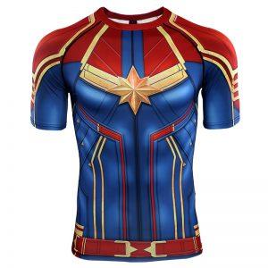 3D Printed T shirts Men Captain Compression Shirts Raglan Sleeve 2019 Short Sleeve Comics Cosplay Costume 6