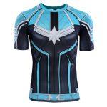 Merch Captain Marvel Rashguard Blue Yon-Rogg Shirt