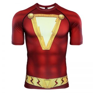 Shazam 3D Printed T shirts Men Compression Shirts Raglan Sleeve 2019 Newest Short Sleeve Comics Cosplay 6