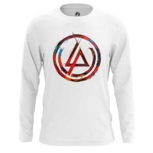 Merchandise Long Sleeve Linkin Park Logo White Tee