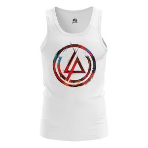 Merchandise Tank Linkin Park Logo White Tee Vest