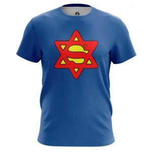 Merch T-Shirt Super Jew Humor Tee Blue