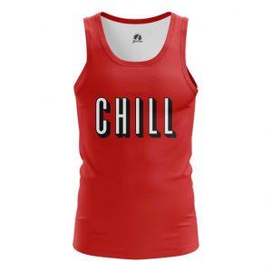 Merch Tank Chill Series Humor Red Tee Vest