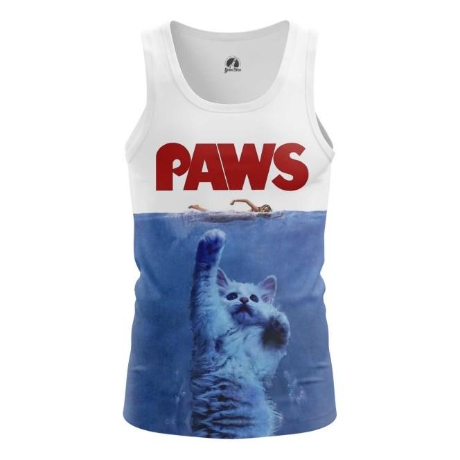 Merch Tank Paws Cat Humor Tee Vest