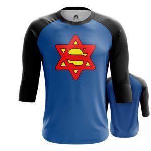 Merch Raglan Super Jew Humor Blue