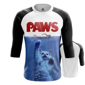 Merch Raglan Paws Cat Humor