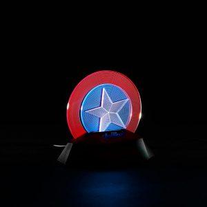 Merch Night Light 3D Lamp Captain America Shield Inspired