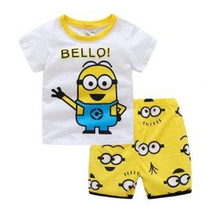 Merchandise Kids T-Shirts Shorts Set Minion Despicable Me Bello
