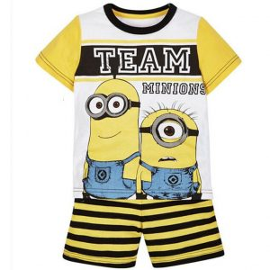 Merchandise Kids T-Shirts Shorts Set Team Minions Despicable Me