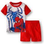 Merchandise - Kids T-Shirts Shorts Set Spider-Man Logo Spider