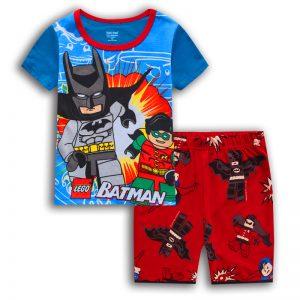Merchandise - Kids T-Shirts Shorts Set Batman Robin Lego