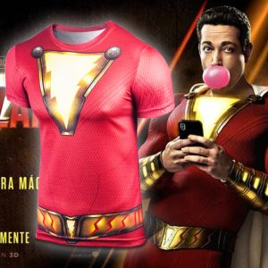 Collectibles Sport T-Shirt Shazam Gym Workout Sportswear
