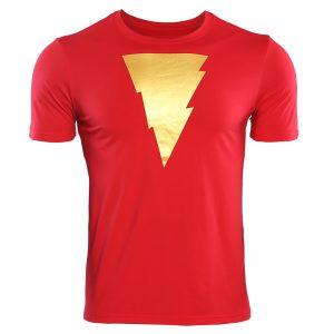 Collectibles T-Shirt Shazam Lightning Logo Golden Movie