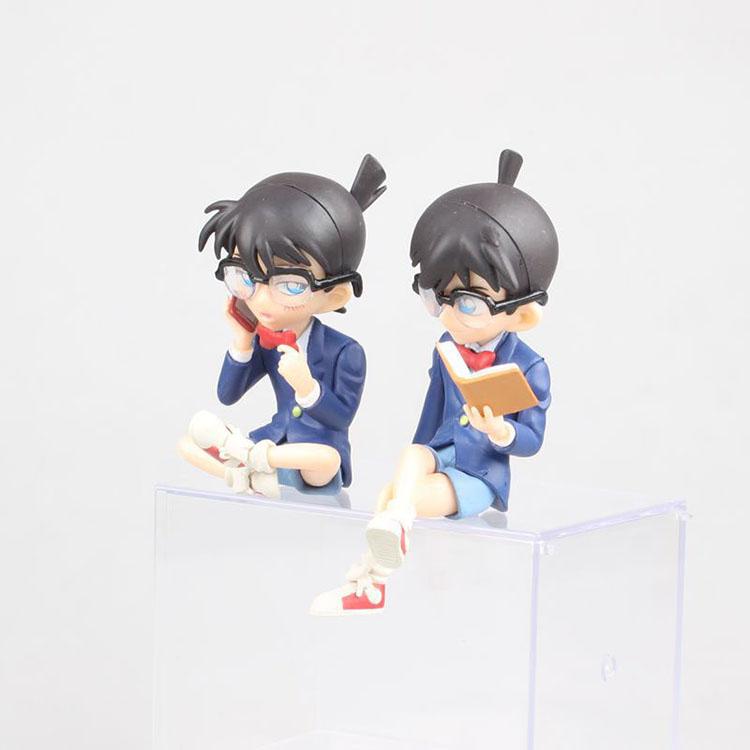 Merchandise Mini Figure Case Closed Conan Anime Collectible Reading