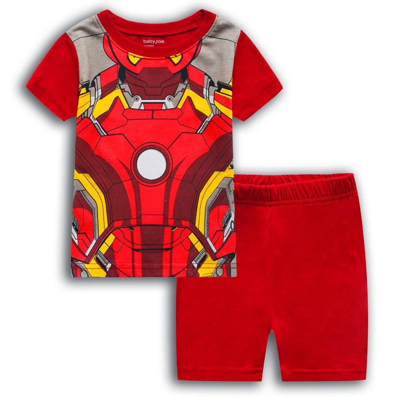 Merch Kids T-Shirts Shorts Set Iron Man Armor Costume