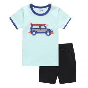 Collectibles Kids T-Shirts Shorts Set Cars Surfing Retro Car