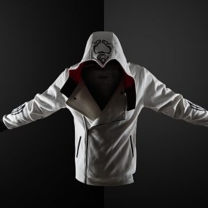 Merch Hoodie Assassin'S Creed White Hooded Costume Inspired