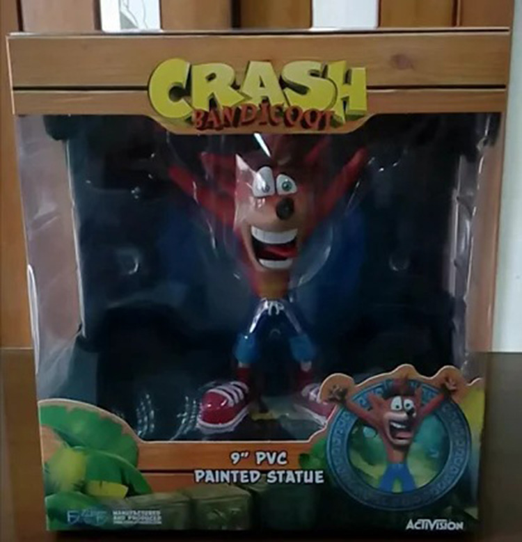 Merch Action Figure Crash Bandicoot Scale Collectible 22Cm