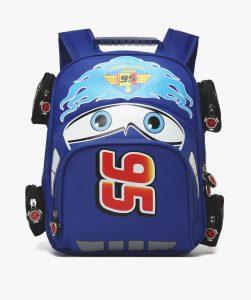 Merchandise Kids Backpack Lightning Mcqueen Film Cars 2006 Blue
