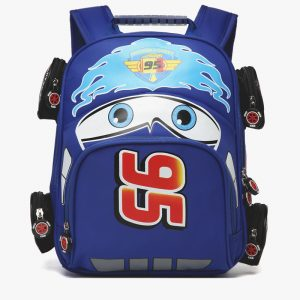 Merch Kids Backpack Lightning Mcqueen Film Cars 2006 Blue