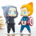 Merch Action Figures Set Captain America Winter Soldier Anime 10Cm