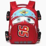 Merch - Kids Backpack Lightning Mcqueen Film Cars 2006 Red