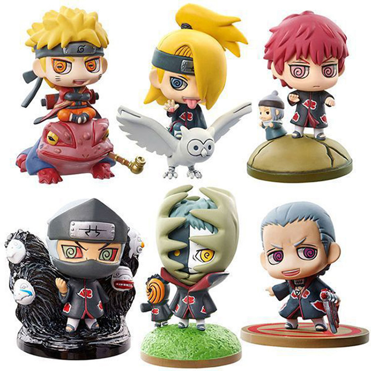 Collectibles Figures Set Naruto Next Generation Scale Mini Collection 5.5Cm