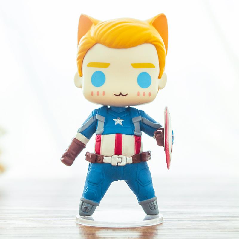 Collectibles Action Figures Set Captain America Winter Soldier Anime 10Cm