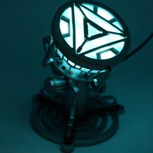 Merch Night Light Iron Man Mk6 Art Reactor Table Spotlight
